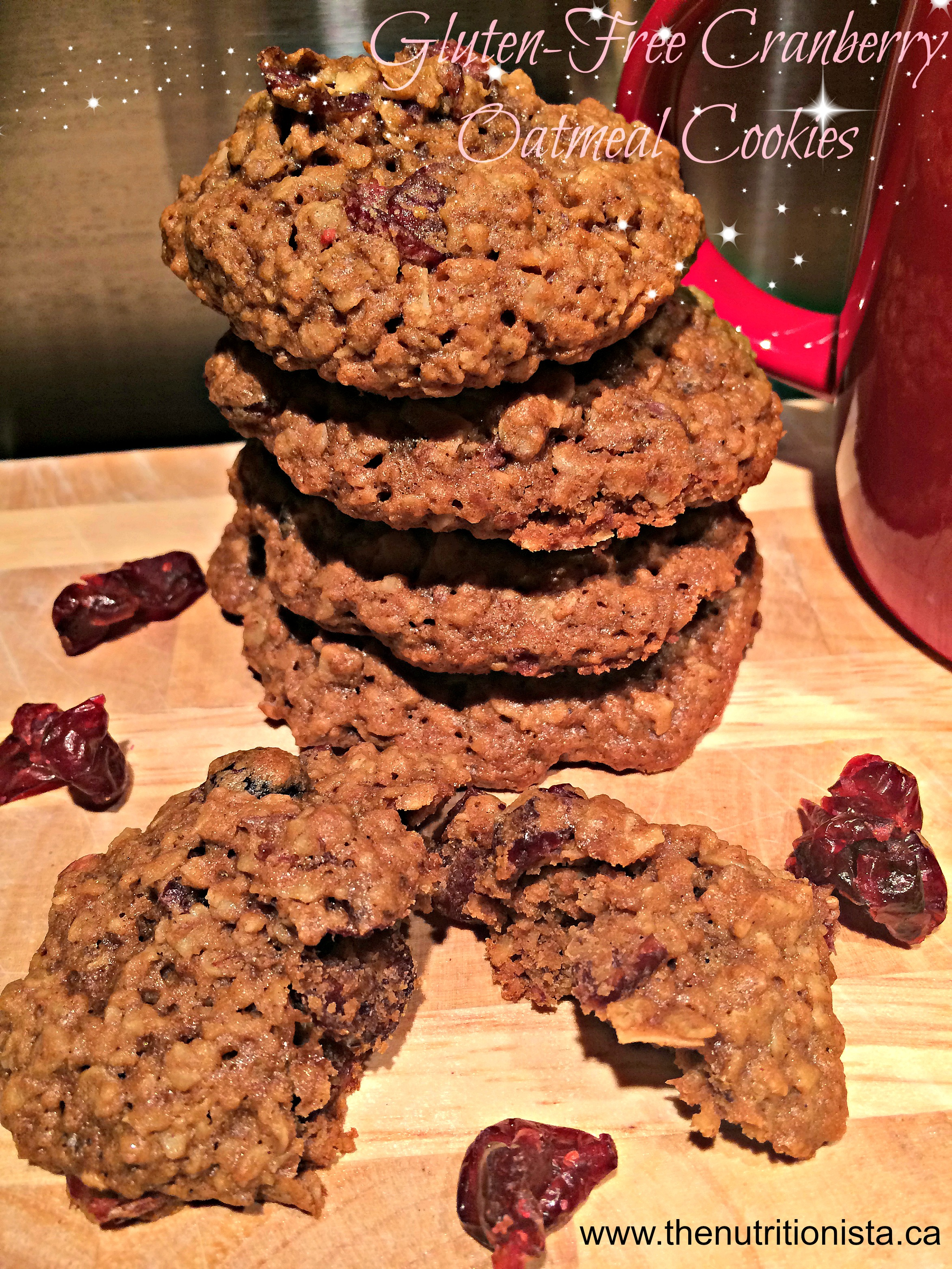 Gluten free cranberry oatmeal cookies