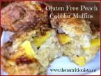 Life changing gluten free peach cobbler muffins. Via @bcnutritionista
