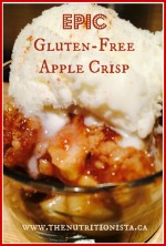 The most epic gluten free apple crisp you will ever put in your mouth. Reduced sugar and vegan adaptable.
