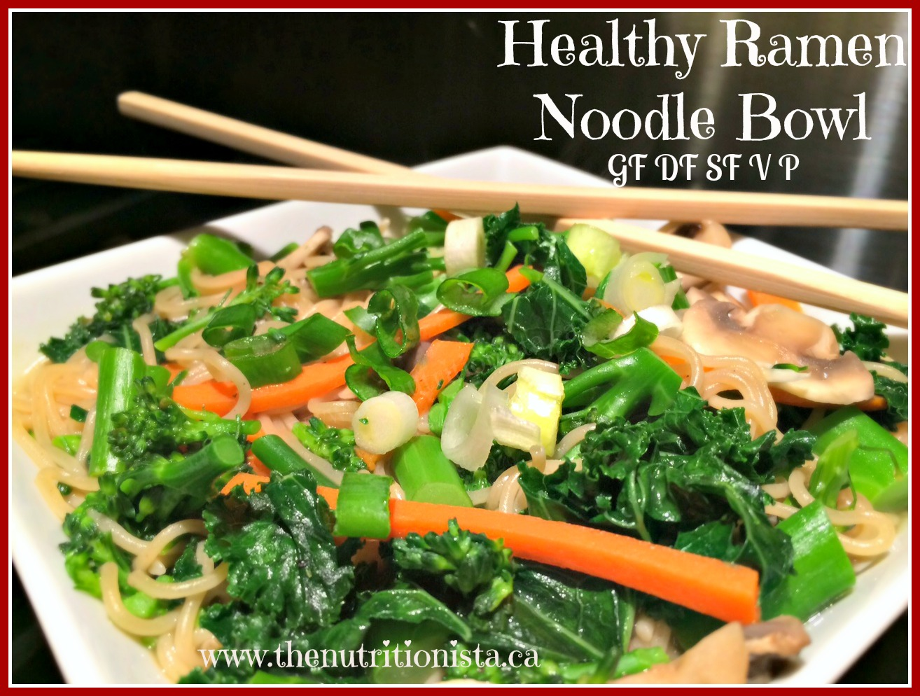 You need to try this healthy ramen noodle bowl! So delicious, but naturally gluten free, grain free, dairy free, soy free, low carb, vegan, and paleo.
