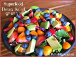 The most delicious superfood detox salad with strawberry vinaigrette. Amazing! Via @bcnutritionista