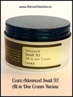 Cosrx Advanced Snail 92 All in One Cream Review . Via @bcnutritionista
